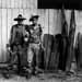 "Gordon Smith, Clyde Caldwell and Wayne (K.Y.) Parsons, Eolia, c. late 1990s. Silver print. 16"" x 20"". Photo courtesy of Gordon Smith."