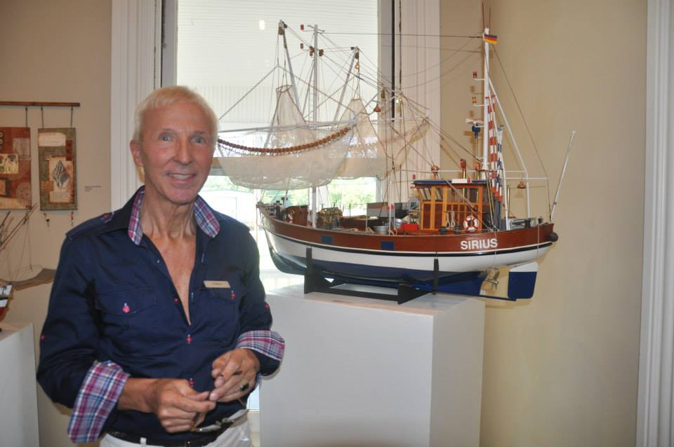 1) Guenter and model ship