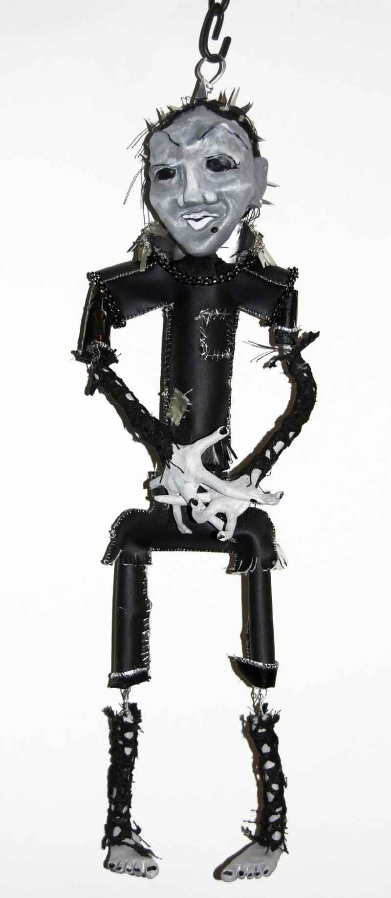 Fear, mixed media sculpture