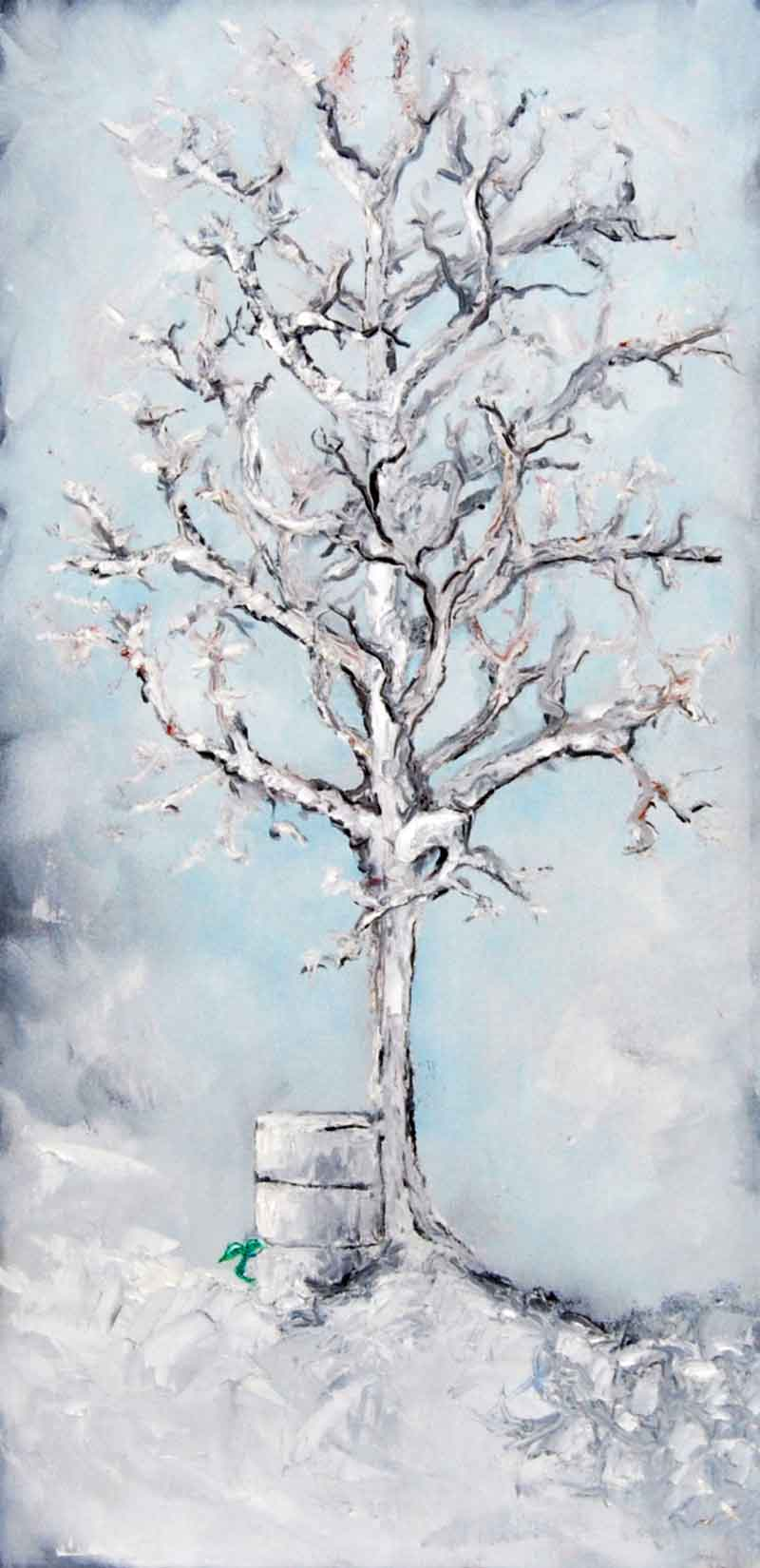 Ice Tree, acrylic painting