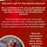 Give the Gift of the ArtsPass