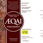 AEQAI Spring Benefit