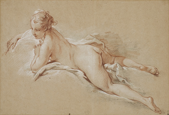 Francois Boucher-Recumbent Female Nude