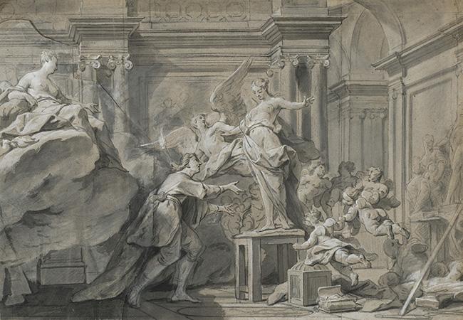 Jean Restout-Pygmalion and Galatea