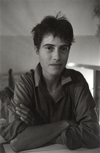 Theresa at Cafe BlaBla, Rotterdam, 1985