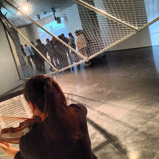 Violin in the Gallery