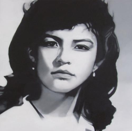 Celina, oil on canvas