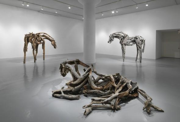 Deborah Butterfield's New Sculptures, at Zolla Lieberman Gallery