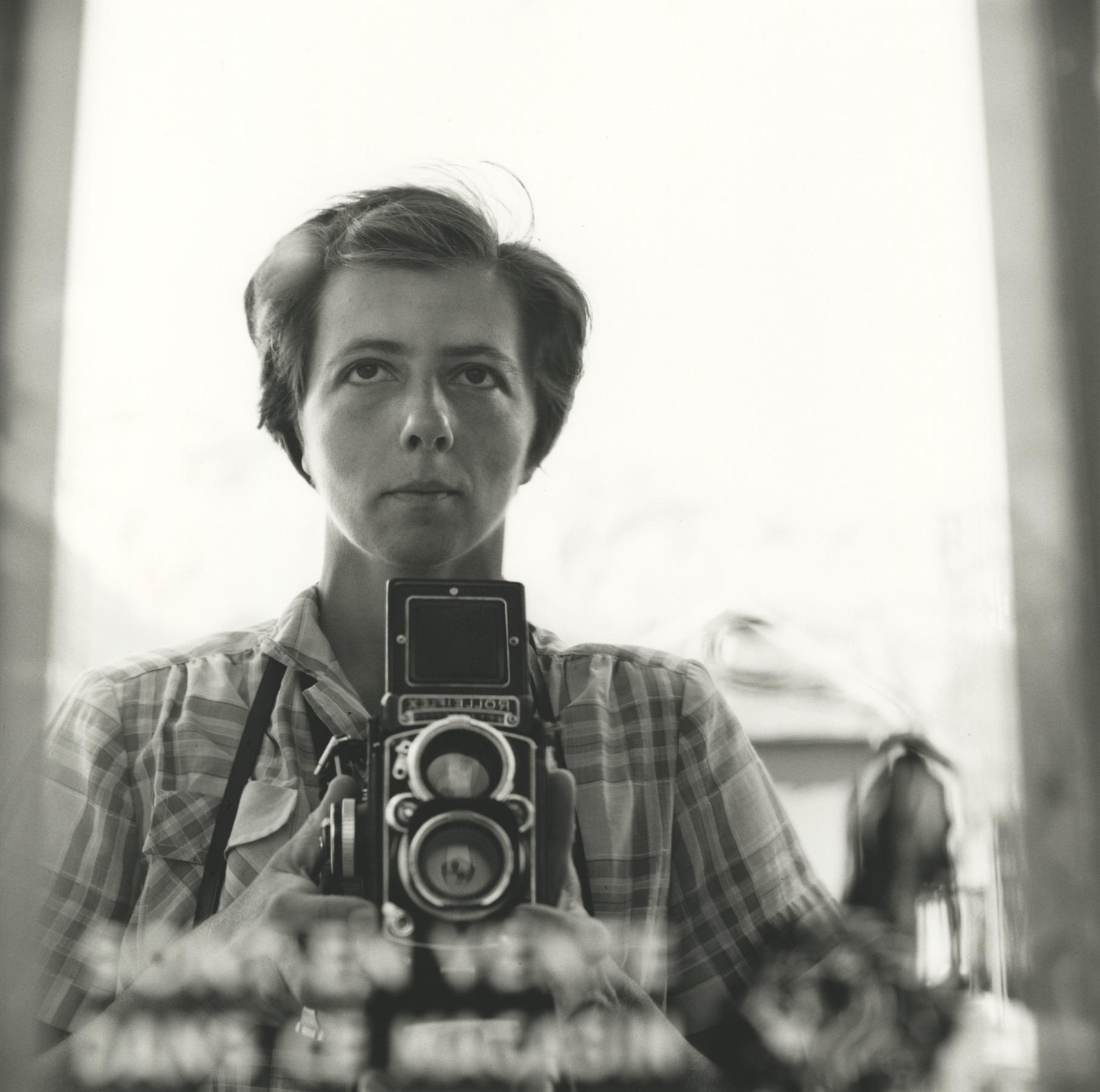 Vivian Maier, self-portrait_1959