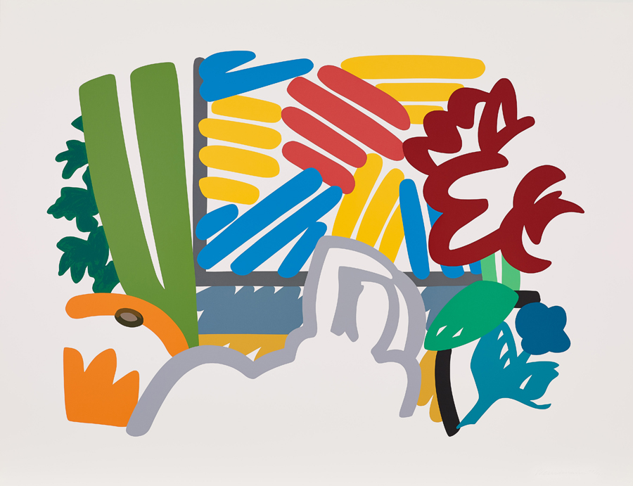 Still Life with Matisse and Johns, 1993, Screenprint