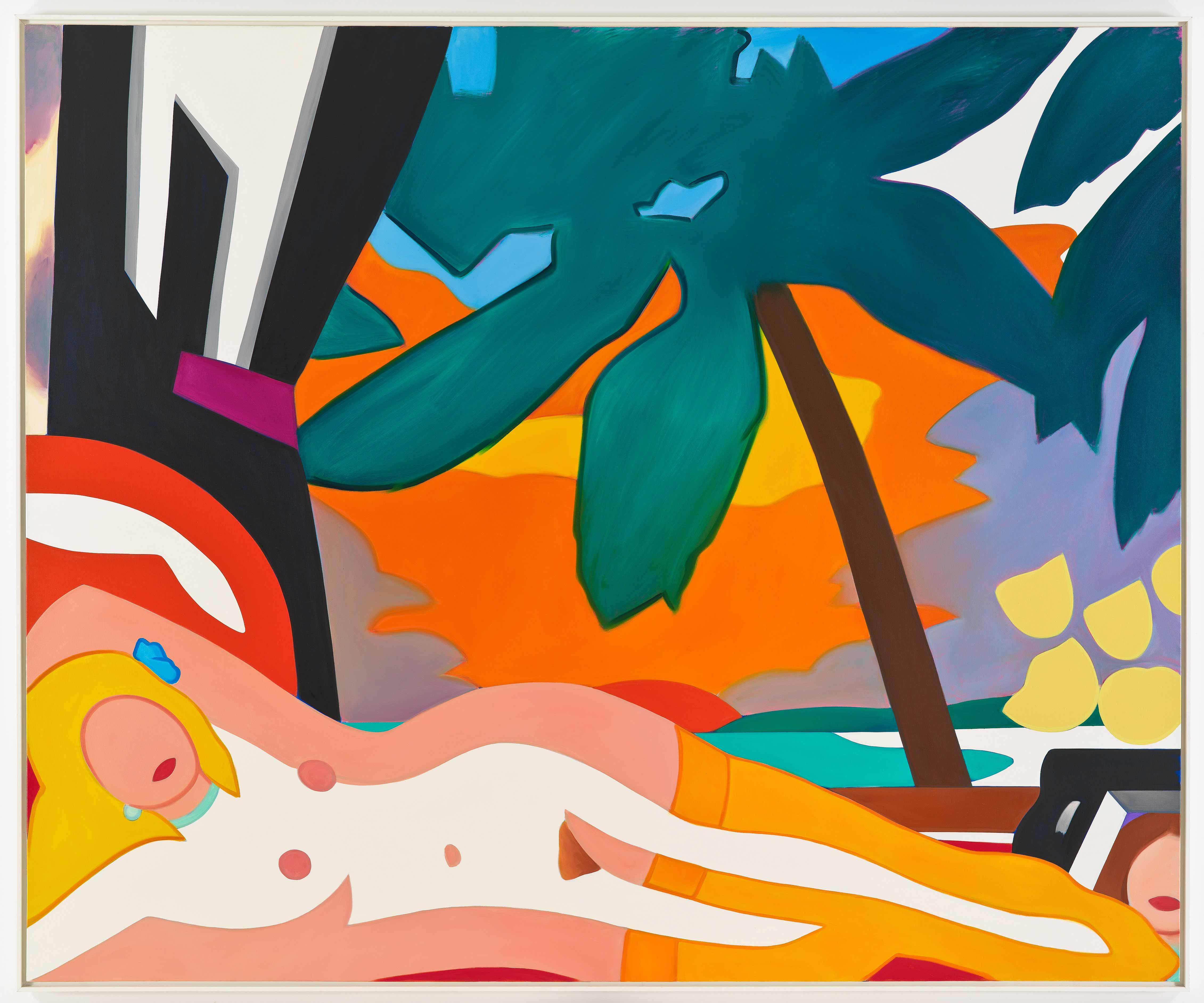Sunset-Nude-with-Big-Palm-Tree---CD119