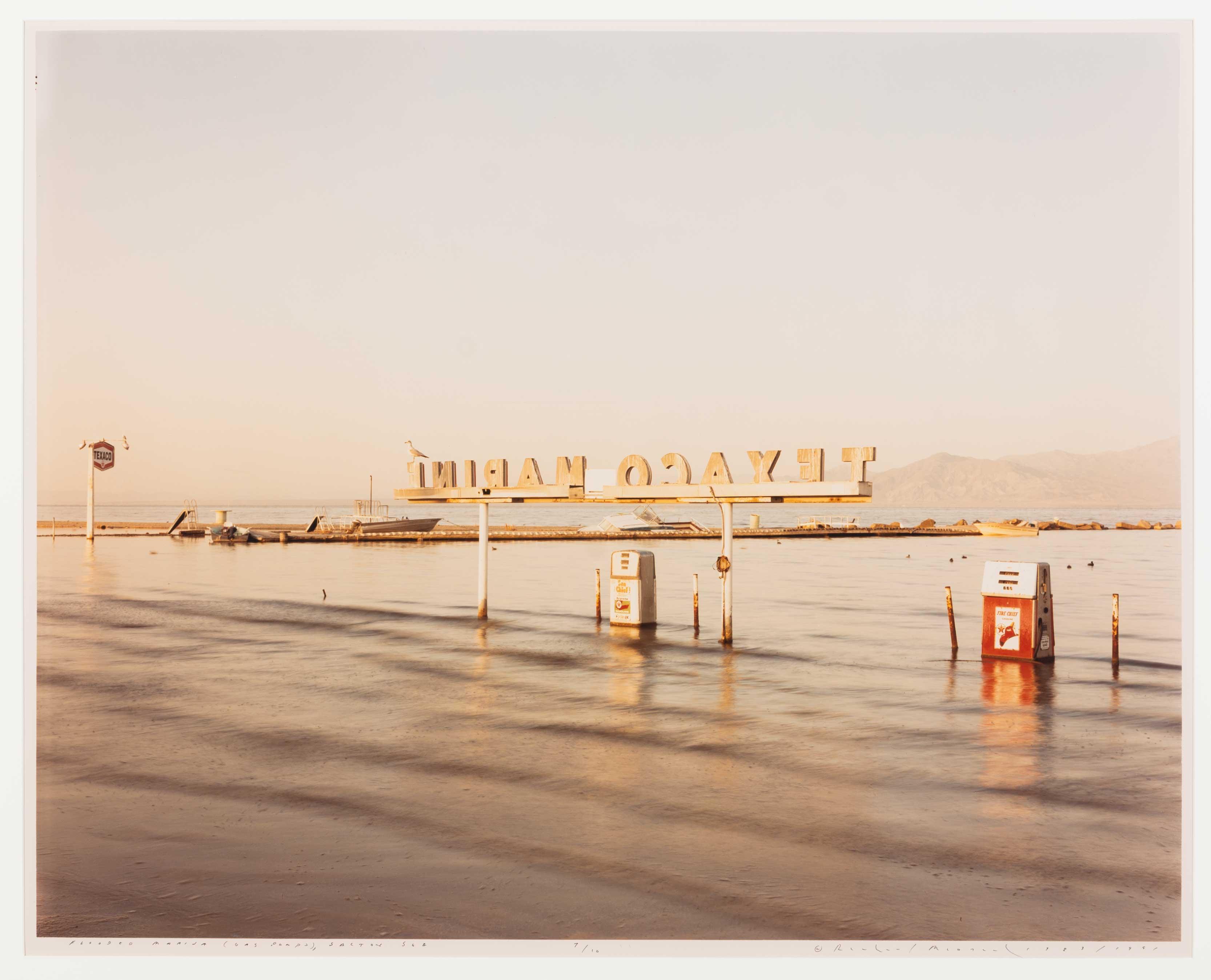 Richard-Misrach,-Flooded-Marina-(Gas-Pumps),-1983-(1991