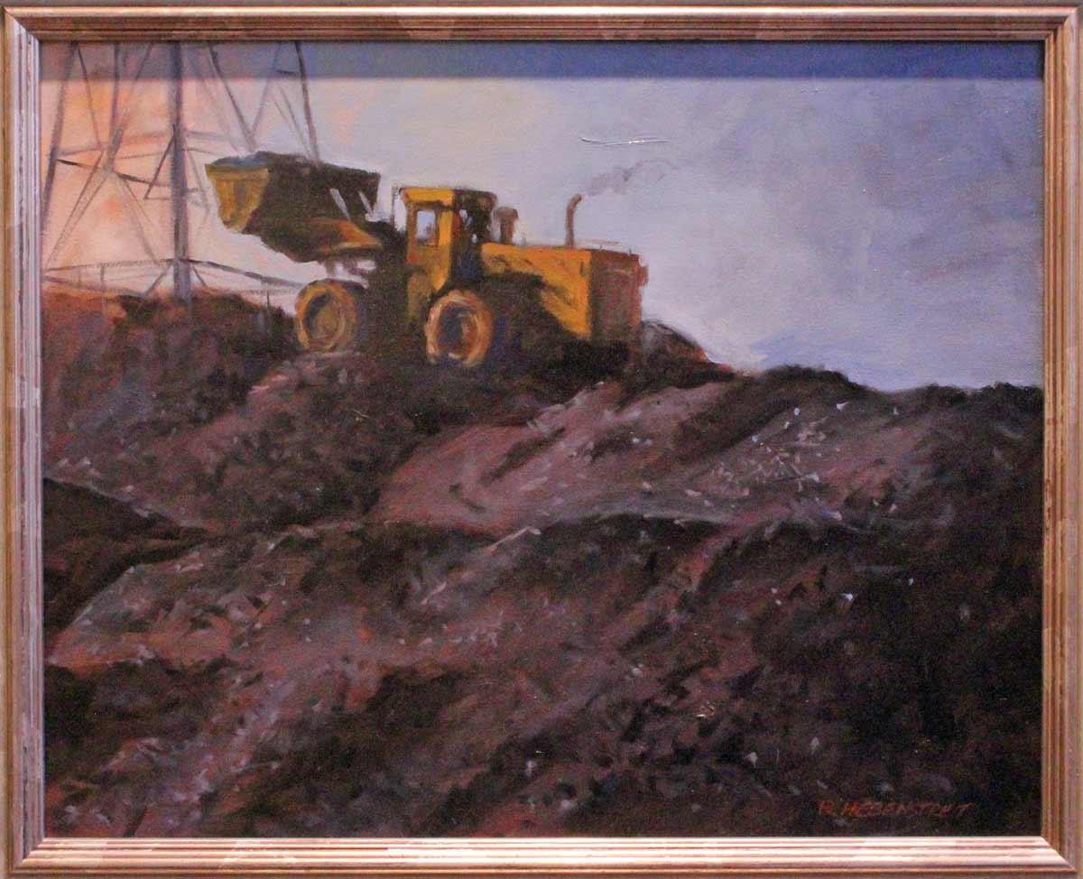 Hebenstreit-Yellow-Bulldozer-16x20-$850