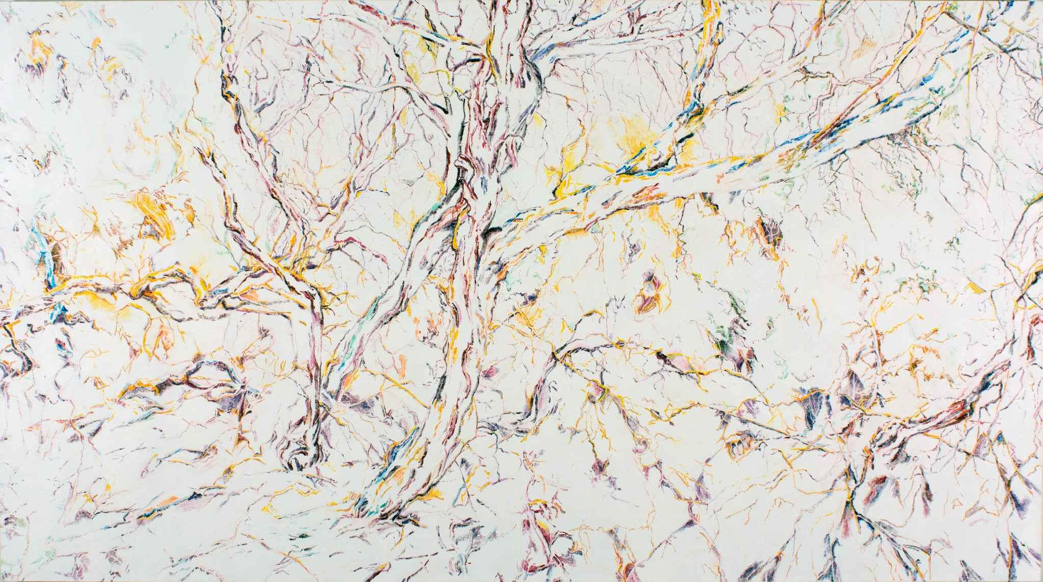 Stewart Goldman, Daphne's Woods (2013), 42x72, oil on linen