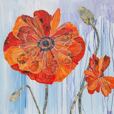 Susan Mahan  Rainy Day Poppies