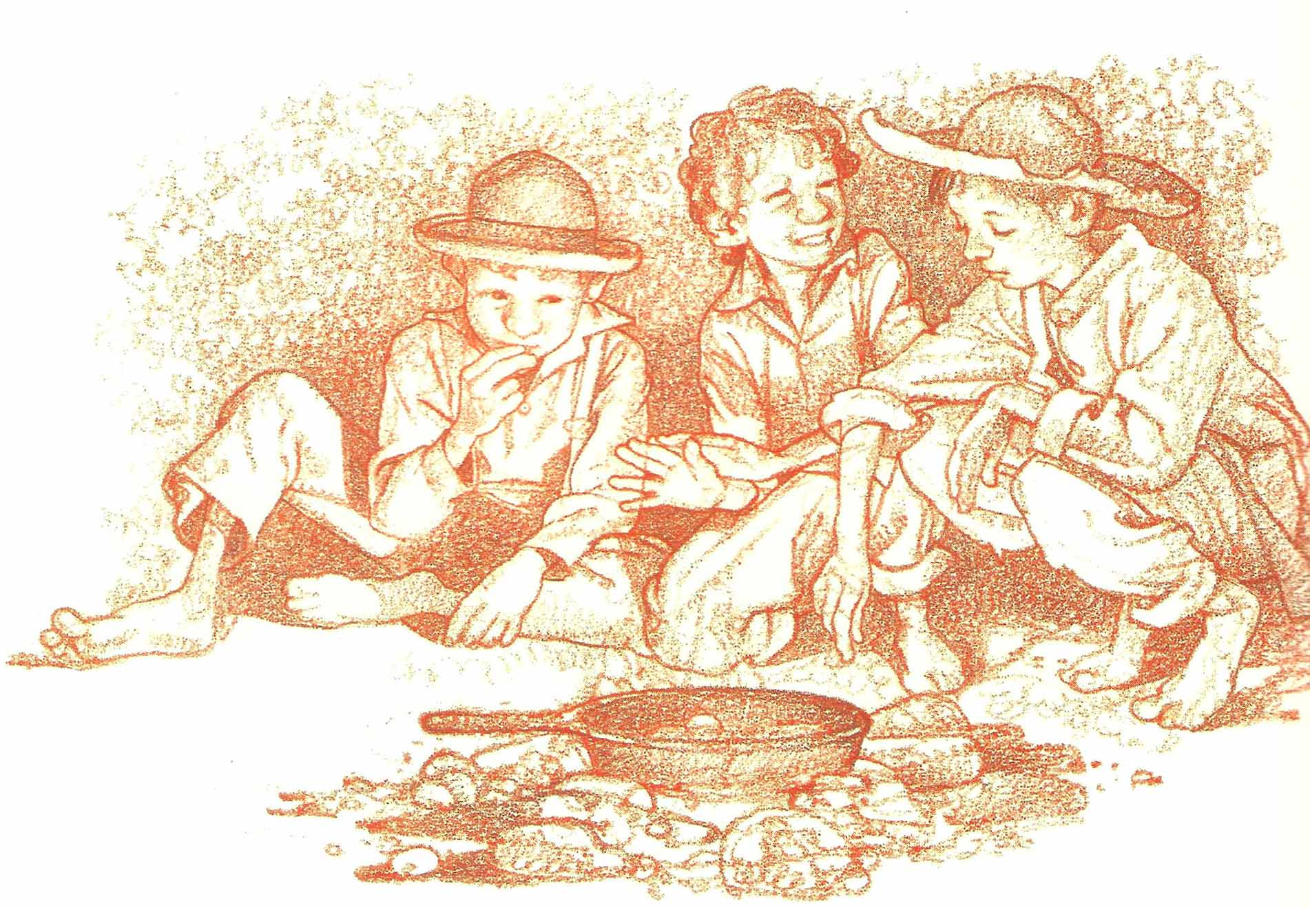 The-Runaways-Cook-Their-Meal