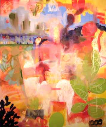 2-A-Donkey-Day-in-Santa-Fe--72x54-oil-on-canvas-2009-