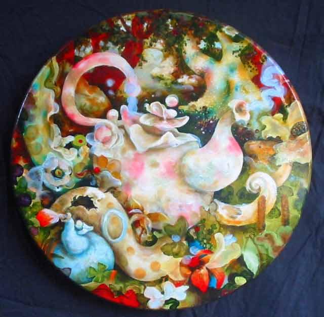 "3-Pumpernickel-Tea-20""diameter-oil-on-canvas-2013"