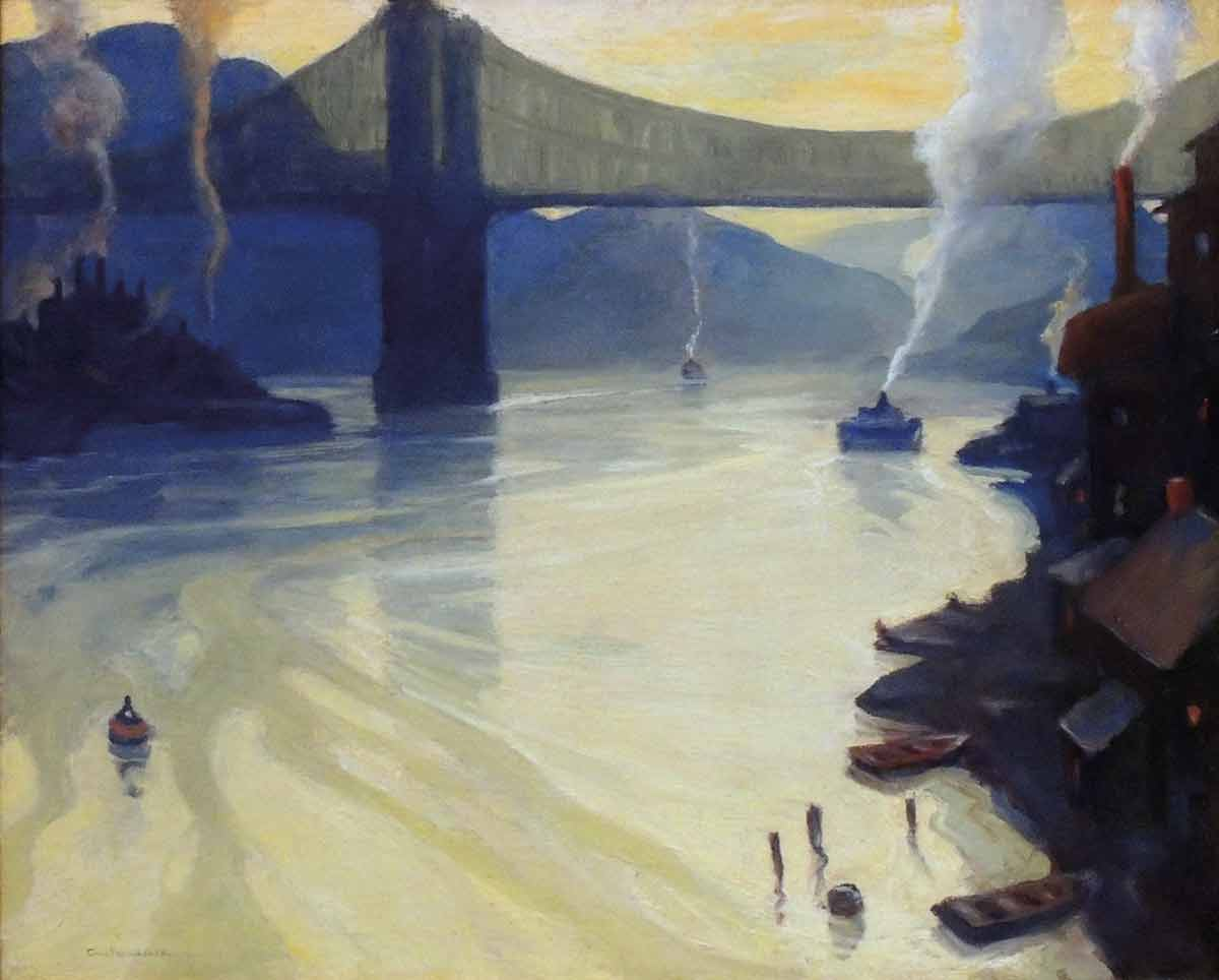 Carl-Gaertner-(1898-1952)-_-The-Allegheny-_-1926-_-oil-on-canvas