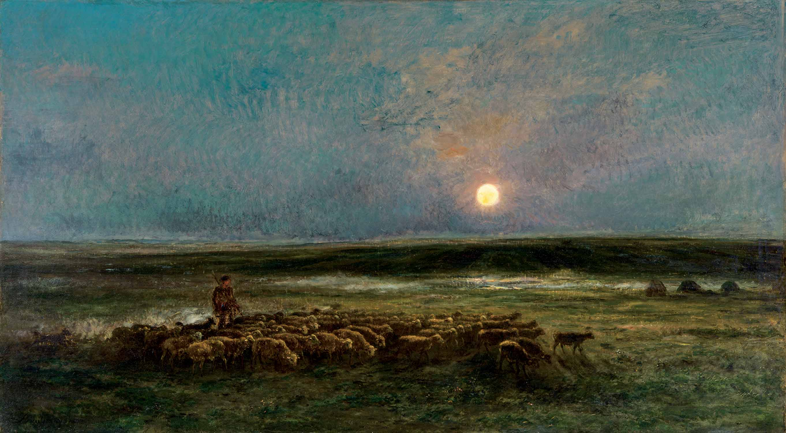 7-Daubigny-Moonrise-at-Auvers-1877-Montreal