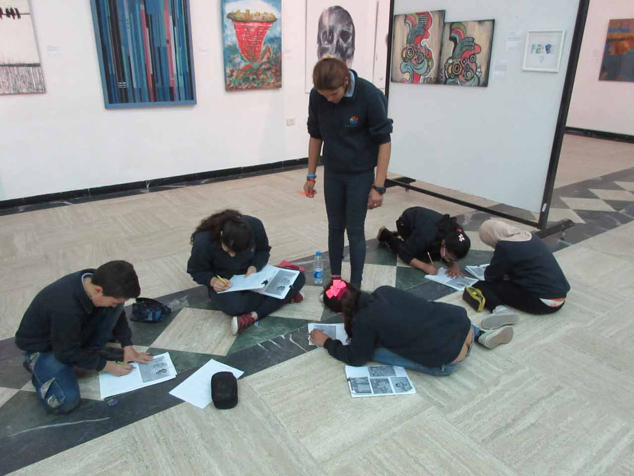 31.-Students-of-School-X-at-SOS-Art-Liban-writing-answers..