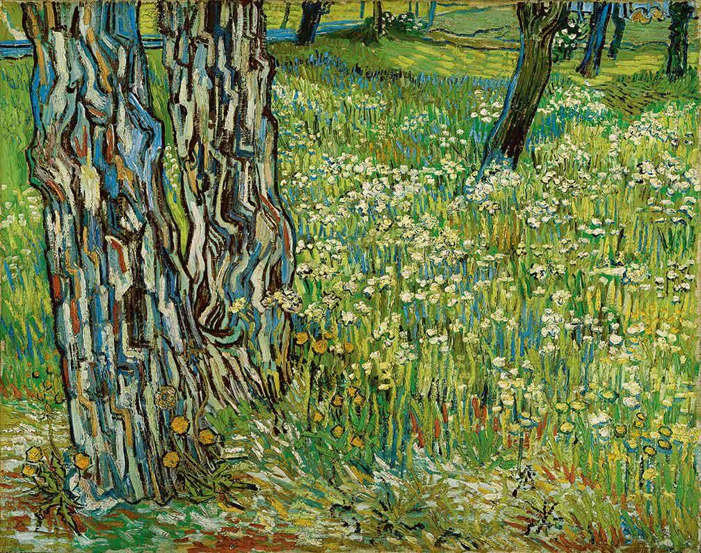 7-VanGogh-TreeTrunksInTheGrass-1890