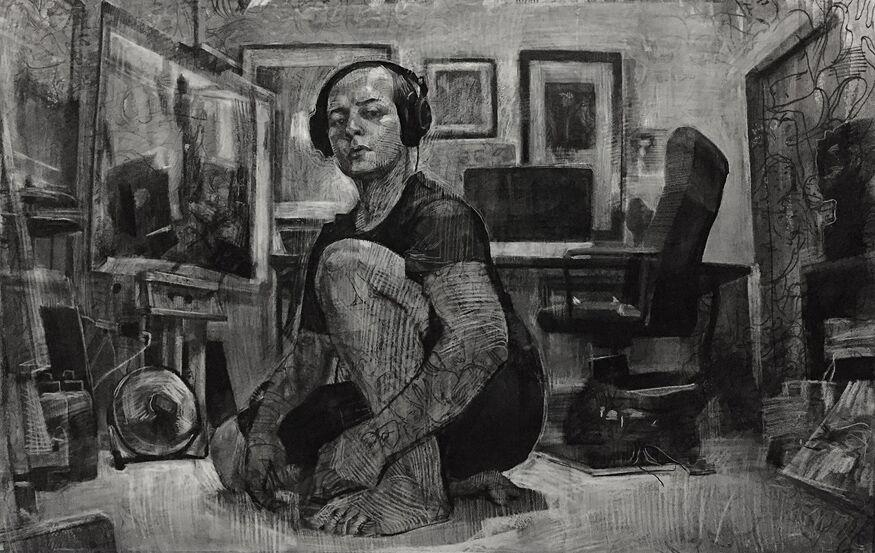 1 Drawn-LucasBianchi-SelfPortraitInStudio-2016
