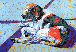 Dizygotic-Hound-Right-serigraph-Aeq