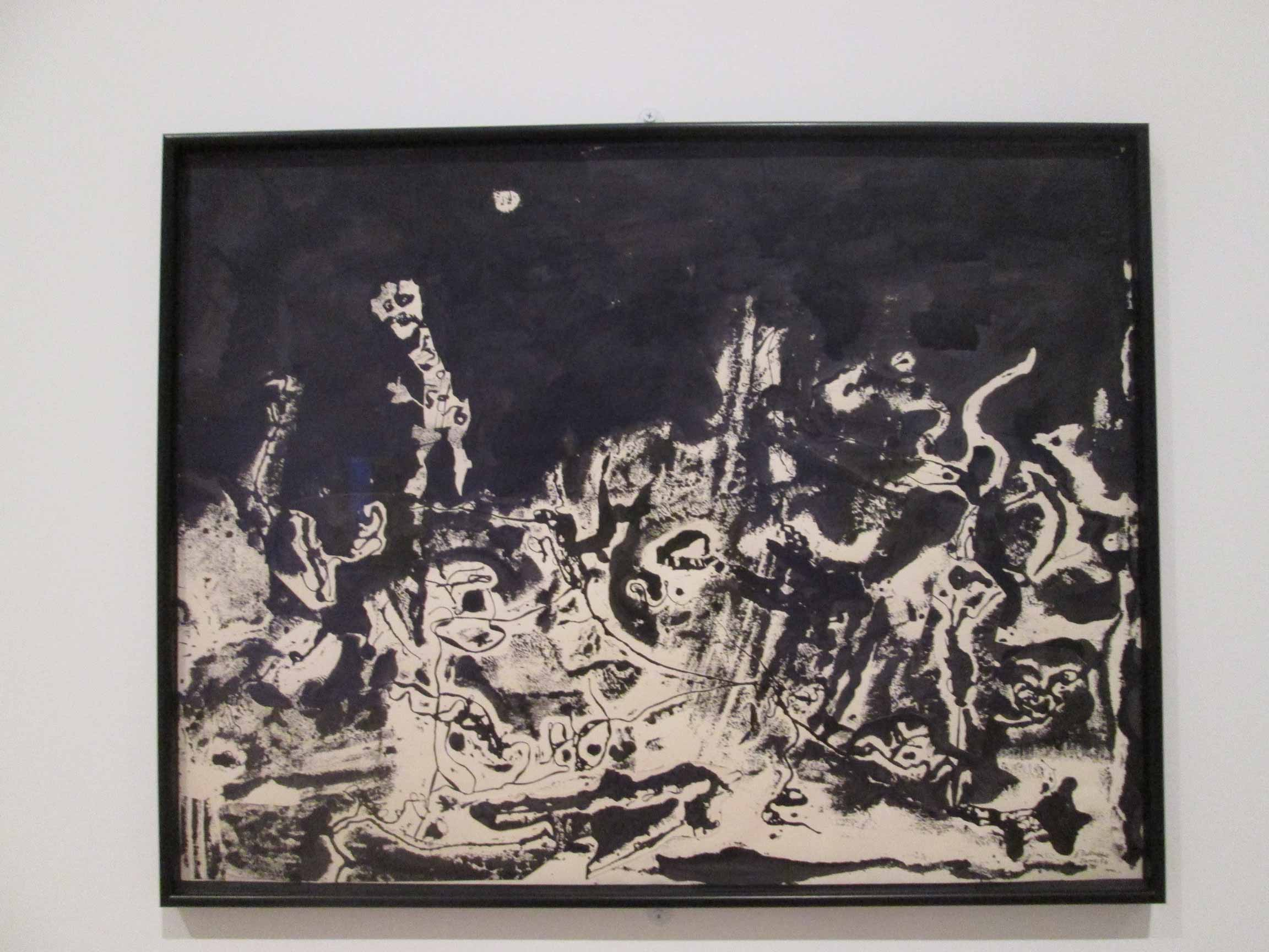 Jean-Dubuffet,-Le-pays-hanté-(The-Haunted-Country),-print-assemblage-and-india-ink,-1954