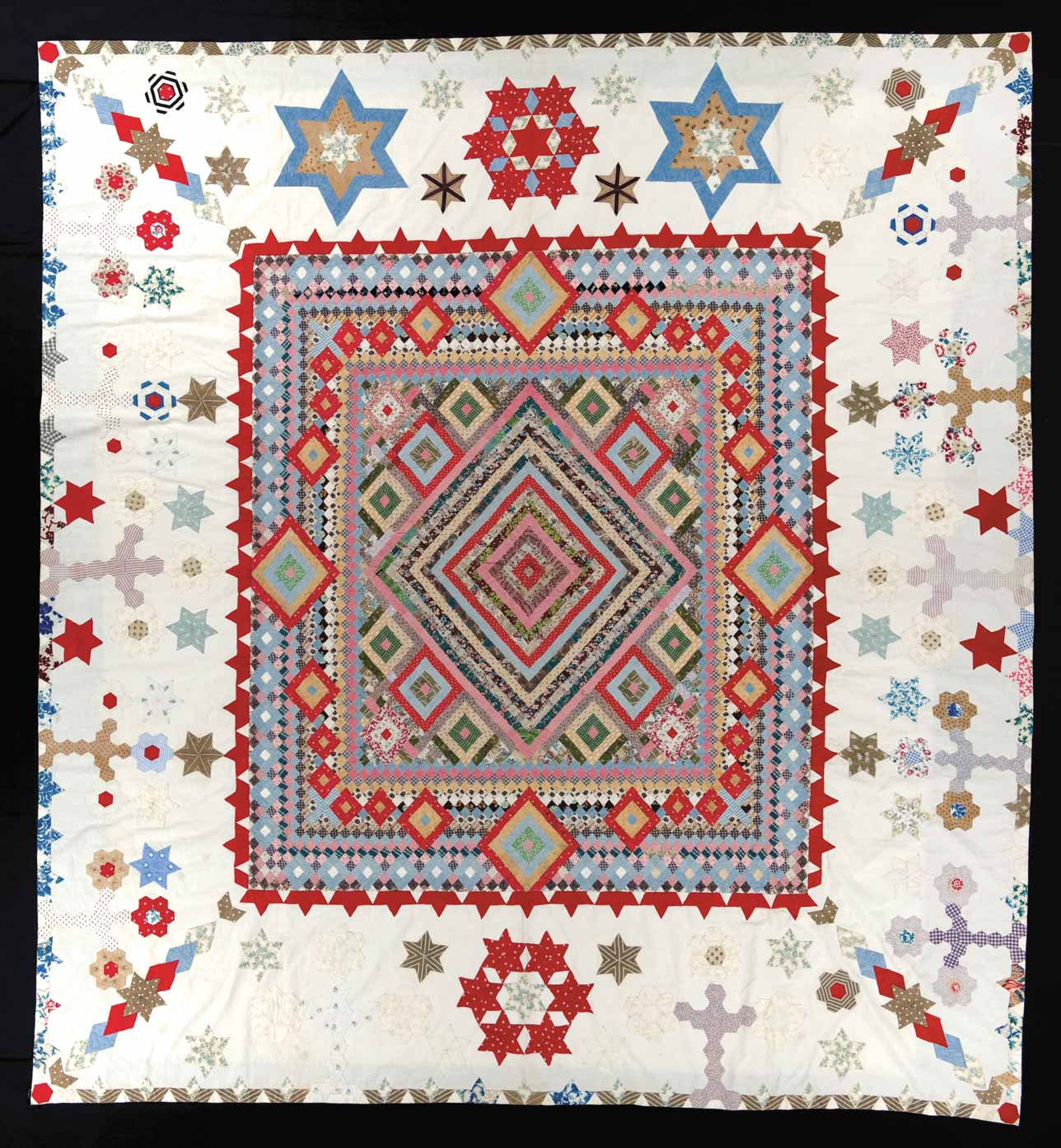4a)QUILTS-Medallion-Coverlet---NH