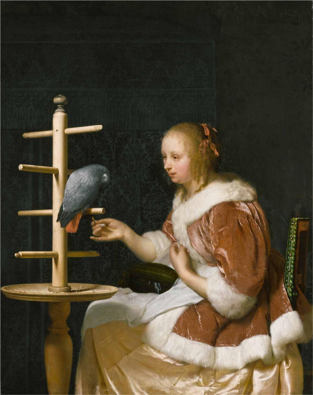 4a)VERMEER-Mieris-Feeding-Parrot-3799-035