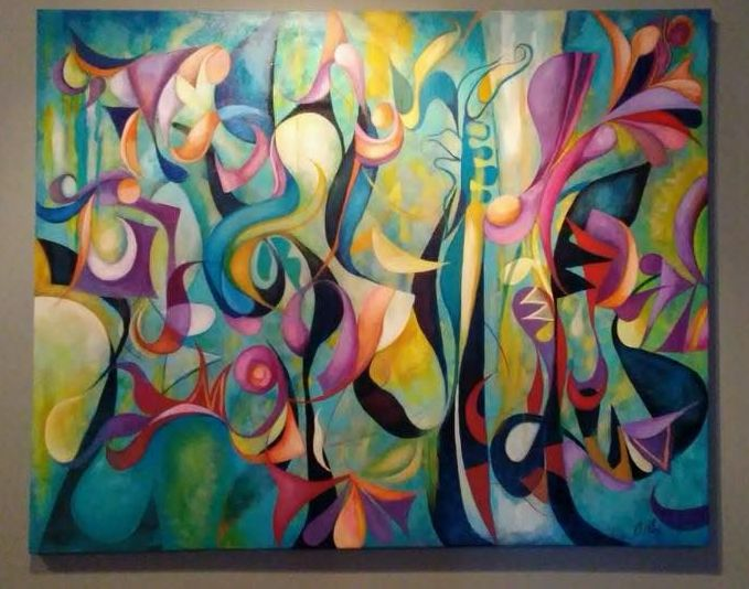 Underwater Love No.2 by Cedric Michael Cox acrylic on canvas 48 x 60 inches mm