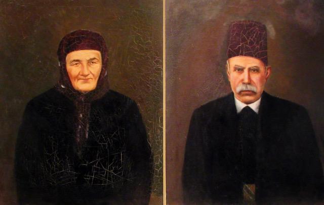 1. Habib Srour_ oil on canvas, 2 portraits, each 70x55cm, c. 1900