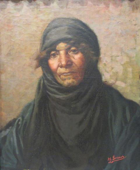 2. Habib Srour_ oil on canvas, 45x37cm, 1910