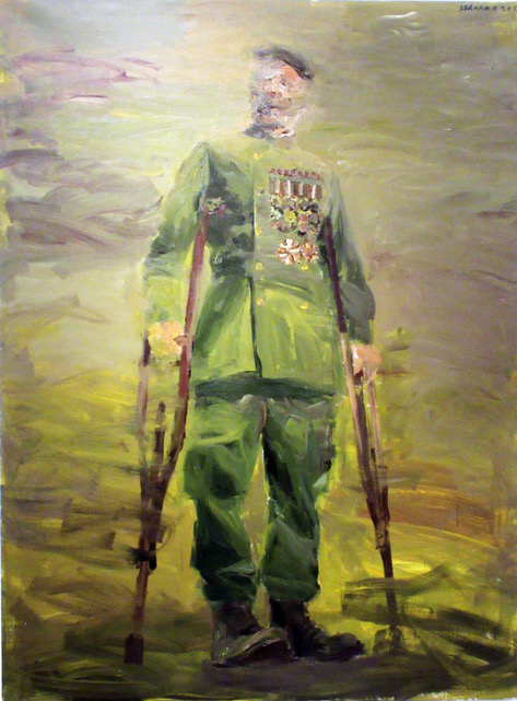 9. Serwan Baran_ The Last General, acrylic on carton, 73x53cm, 2015