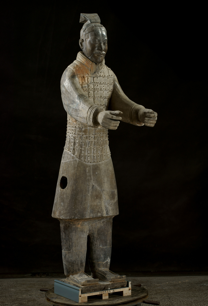3)TERRACOTTA Armored charioteer
