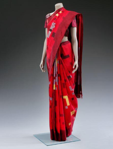 10)INDIA Ikat sari