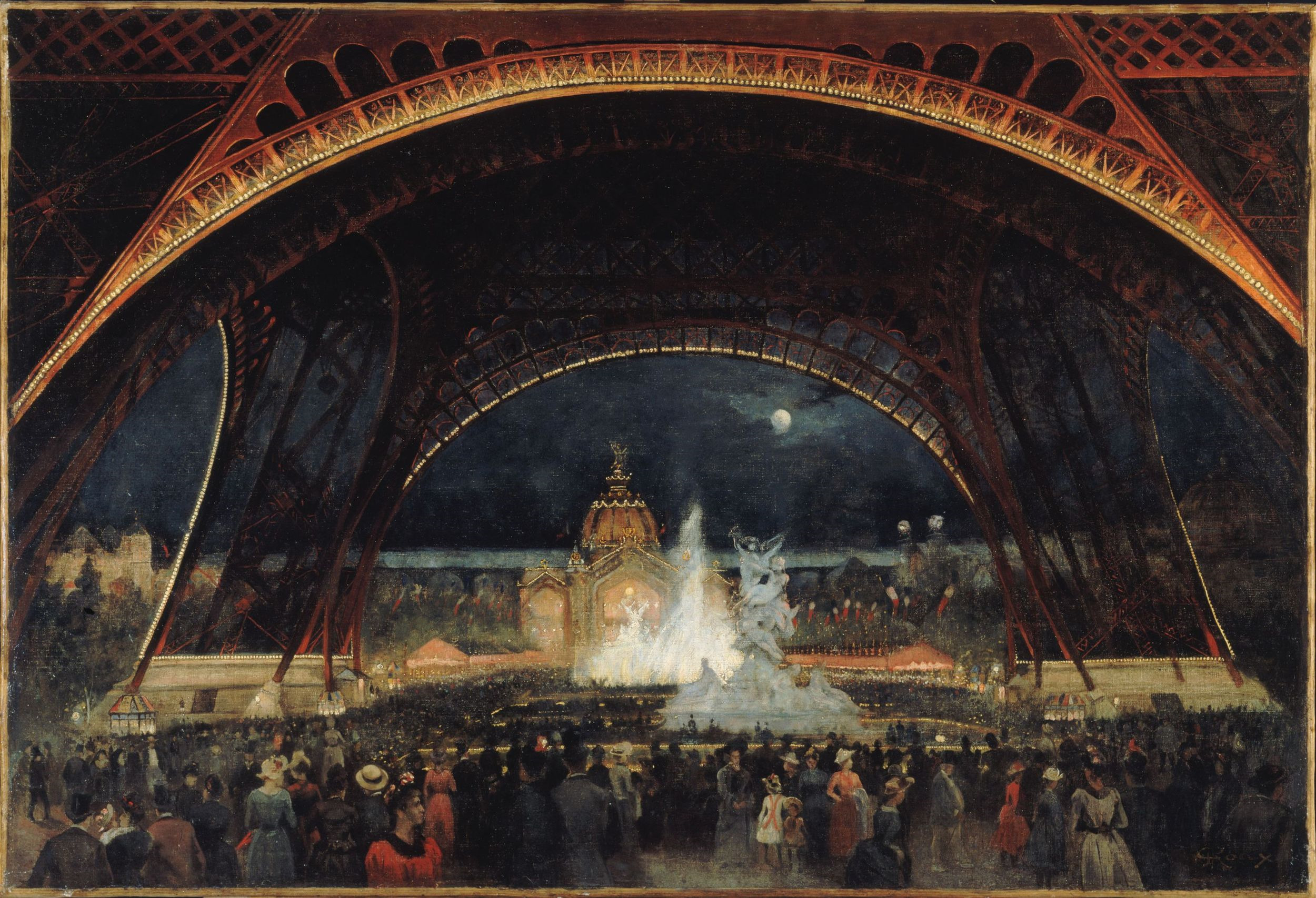 3 Paris-1900-Alexandre-Georges Roux-NighttimeFestivities-1889
