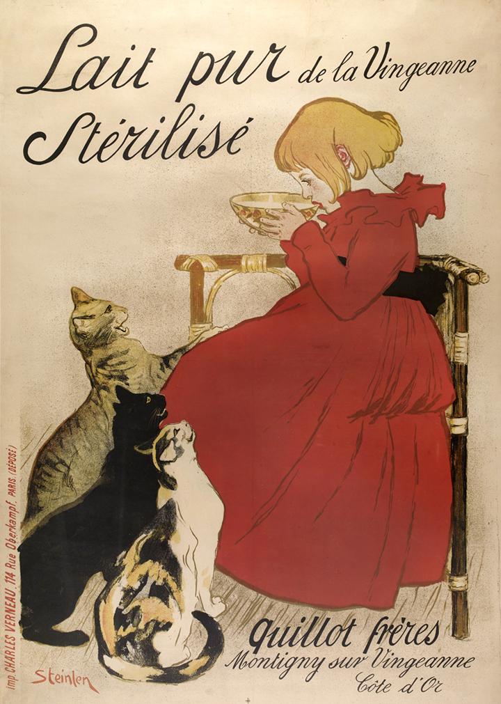 11) AFFICHOMANIA Steinlen - Lait Pur Sterilise - 1894