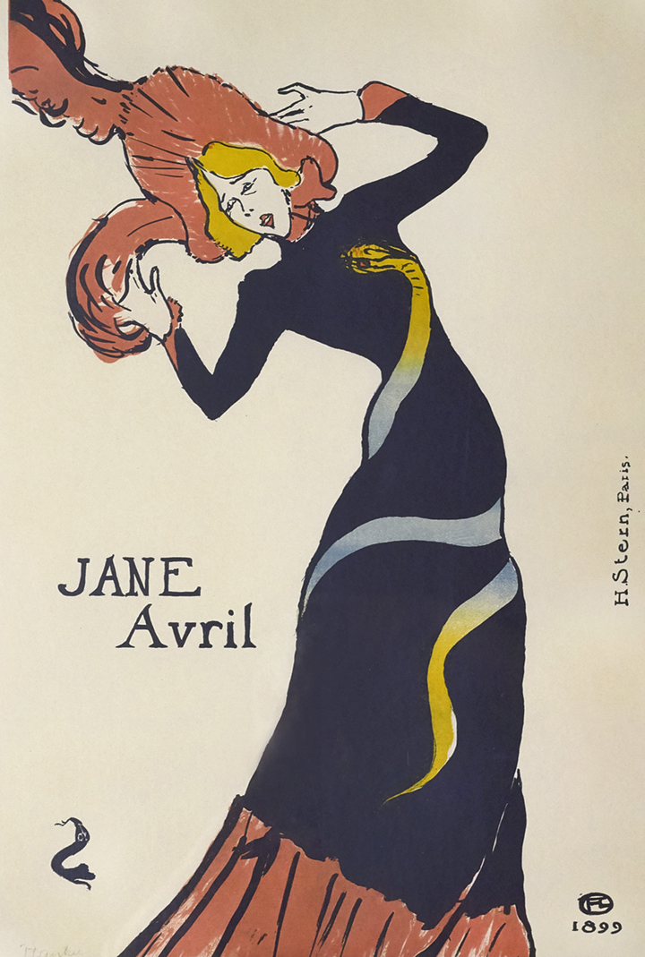 13)AFFICHOMANIA Toulouse-Lautrec - Jane Avril - 1899