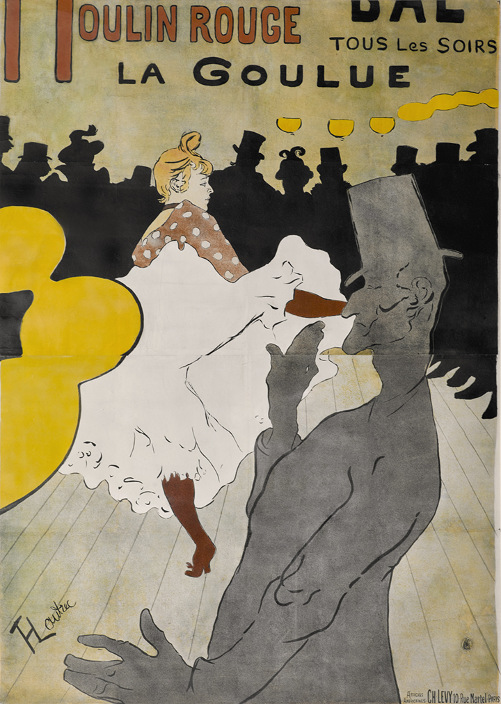 14) AFFICHOMANIA Toulouse-Lautrec - Moulin Rouge-La Goulue - 1891