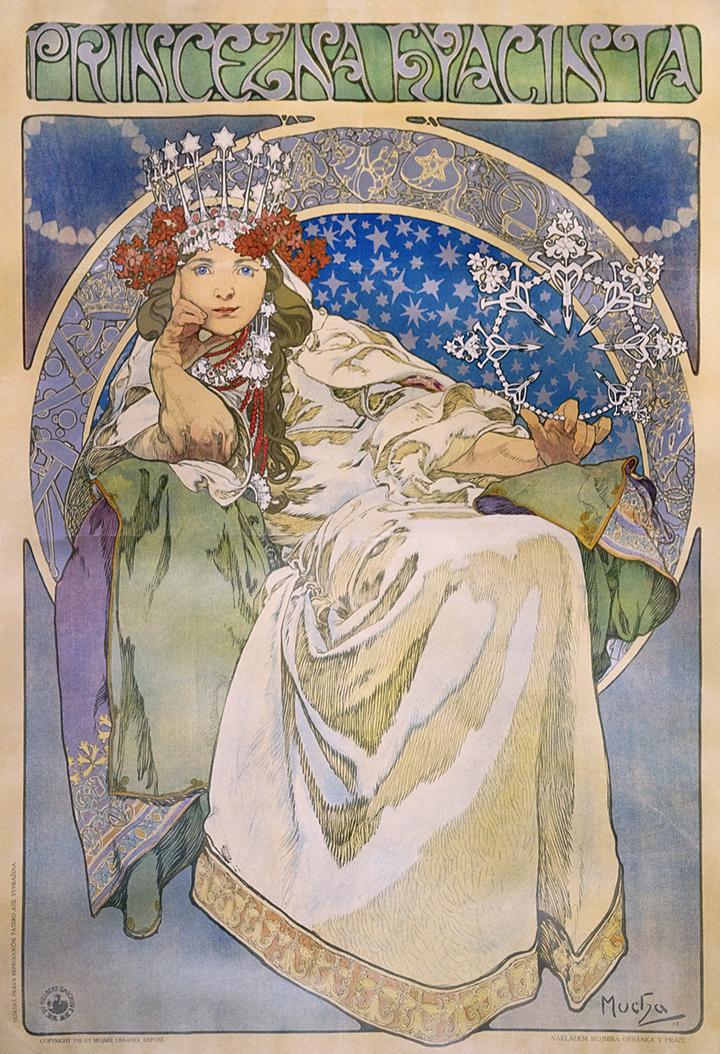 2) AFFICHOMANIA Mucha - Princess Hyacinth - 1911