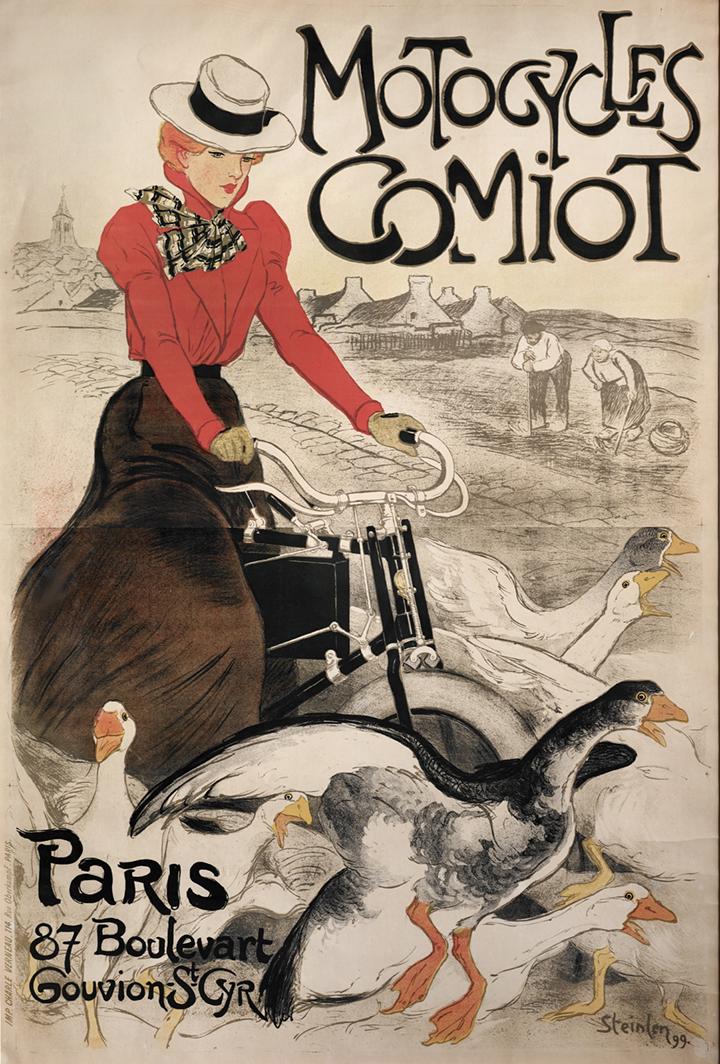 3) AFFICHOMANIA Steinlen - Motocycles Comiot - 1899