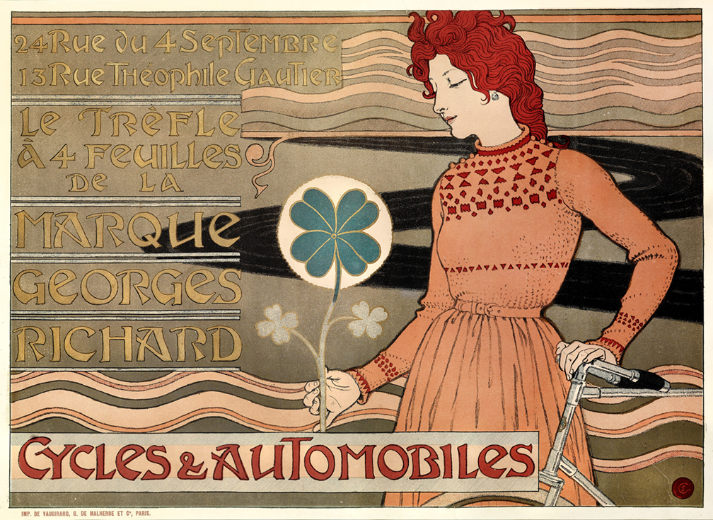 8)AFFICHOMANIA Grasset -Cycles and Automobiles - 1899