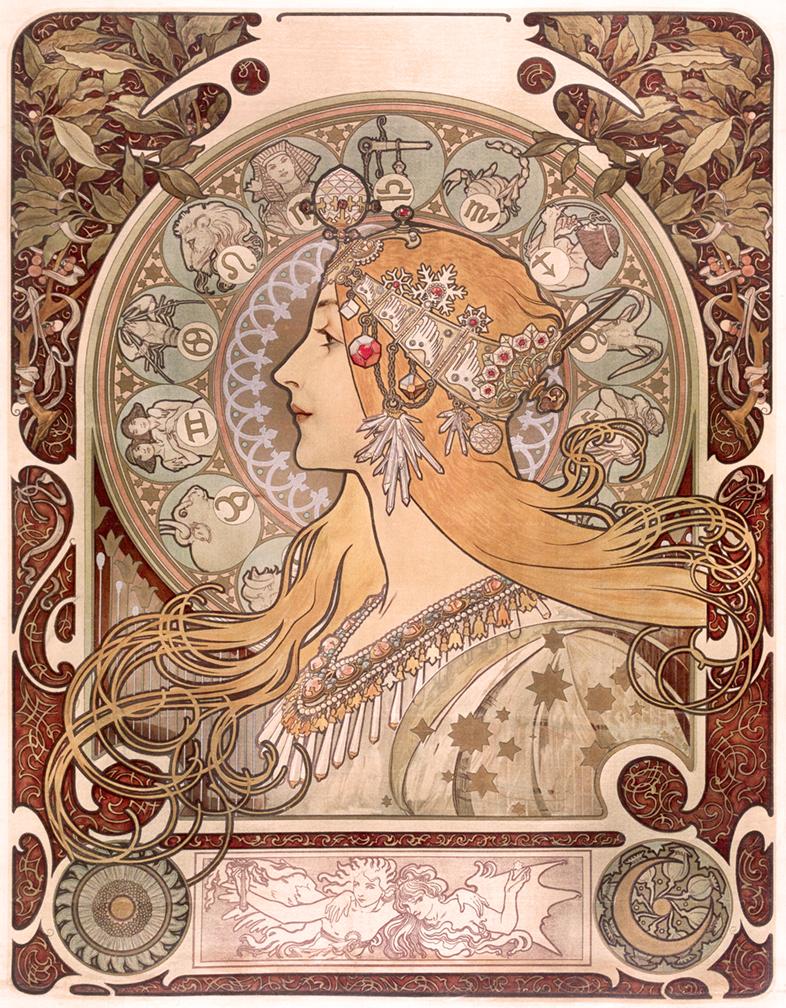 9) AFFICHOMANIA Mucha - Zodiac - 1896