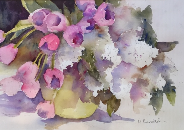 Watercolor painted from still life set up.