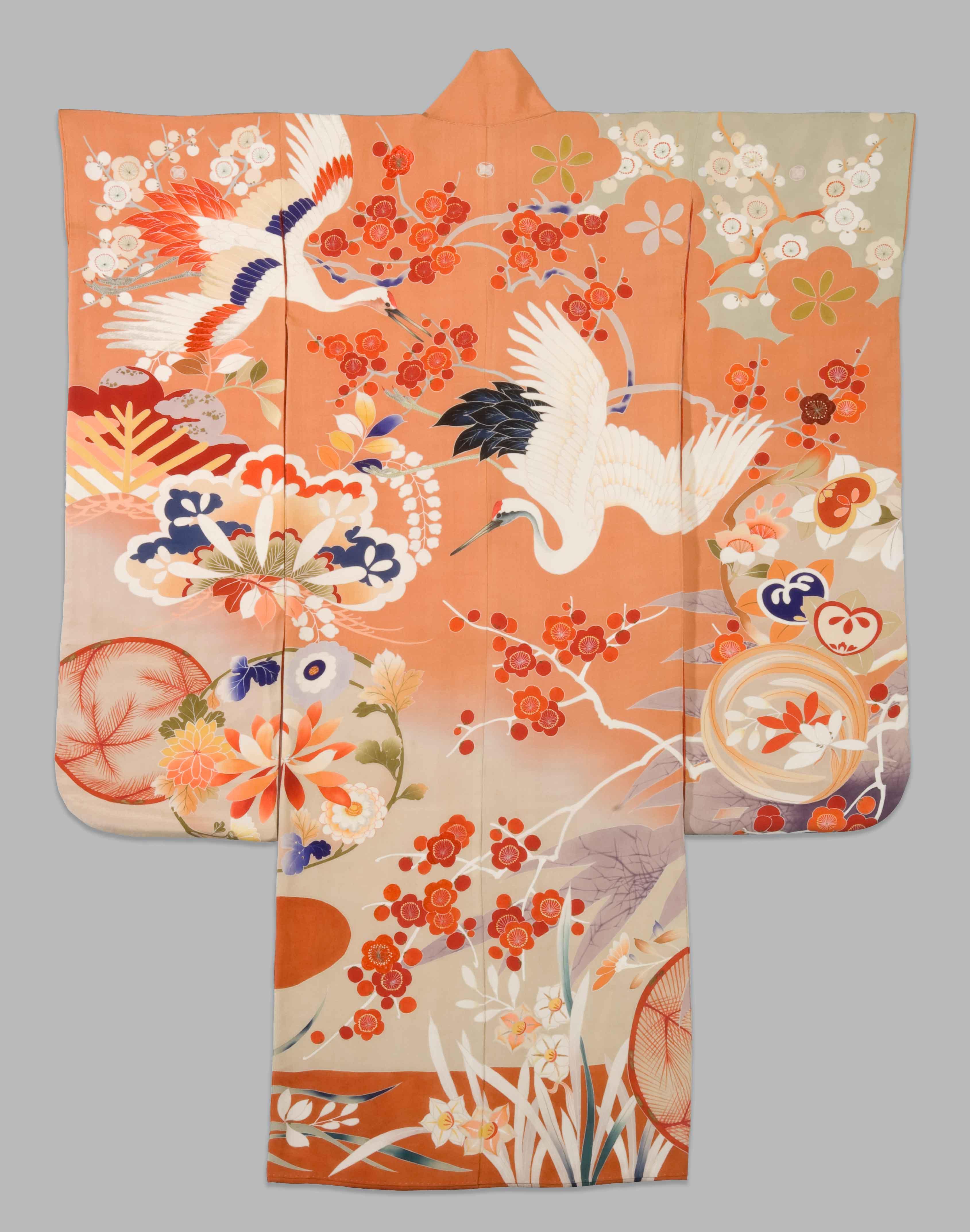 1)-KIMONO-Orange-Crane-2005