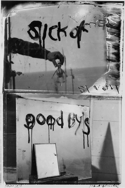 Robert Frank: <i>Sick of Goodby's</i>, 1978; from <i>The Lines of My Hand</i>