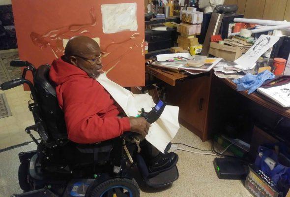 Robert Harris, 75, a Black, Disabled Community Activist and Artist