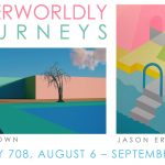 """""""Otherworldly Journeys: Stories Both Real and Imagined/Myths of a New World–Alan Brown and Jason Erler,"""" Gallery-708, through September 26, 2021"""
